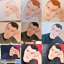 Portret olejny - etapy