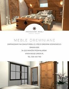 Piękna sypialnia, wykonana z drewna sosnowego. Meble solidnie wykonane od producenta. Zapraszamy na nasza stronę rood-drew .pl