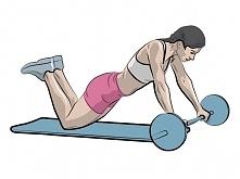 rolowanie sztangi - efektywne ćwiczenie brzucha, ramion, pleców.