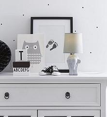 Lampa nocna ELEPHANT biała - lampydomowe.pl  Urocza lampa do pokoju maluszka.