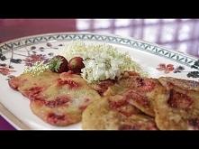 """Placki z kwiatami akacji i truskawkami"""" - bezglutenowa kuchnia wegańska - Ate..."""