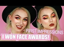 I WON FACE AWARDS 2017 + Full Face of New Makeup | Evelina Forsell