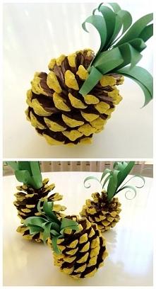 Ananaski z szyszek:D