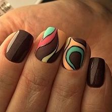czekoladowe paznokcie
