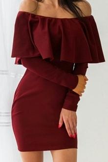 Sukienka hiszpanka bordowa <3 rozmiar XS, 70zł