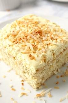 Ciasto z ananasem i masa kokosowa