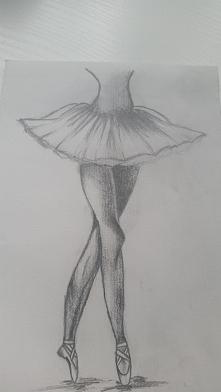 Baletnica, świeżo malowane