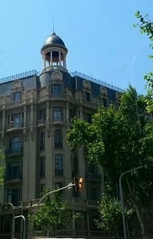 Barcelona- kamienice w Centrum miasta...