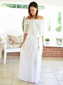 Spódnica maxi KIM biała. Ottanta - sklep online