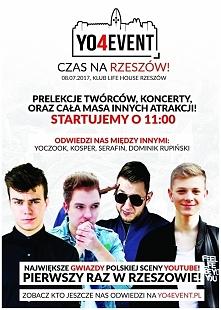 YO4event pierwszy raz w Rzeszowie! Spotkaj swoich idoli juz 8 lipca. Zaprasza...