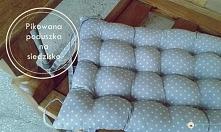 Pikowana poduszka na siedzisko - @brzostula