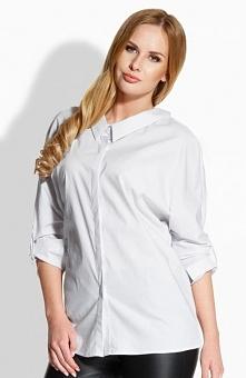 Envy me EM502 koszula biała Elegancka koszula, wykonana z jednolitej dzianiny...