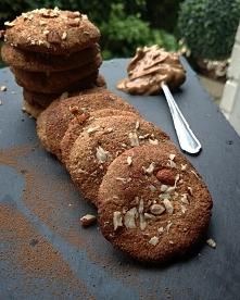 Ciasteczka kokosowo - orzechowe. ( Bez cukru, bez glutenu, bez laktozy )