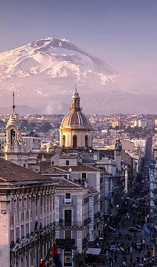 Catania and Mount Etna, Sic...