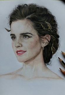 Wreszcie skończone- moja ukochana aktorka Emma Watson ❤ tym razem ten portret...