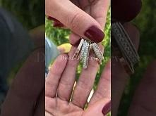 Elegancka zawieszka ze srebra i złota z cyrkoniami 1014❤️ Możesz nosić wszyst...