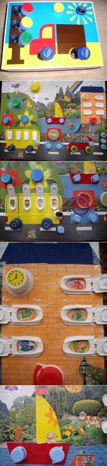 zabawka dla dzieci z nakrętek