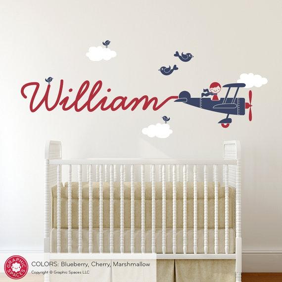 Imię dziecka na ścianie - inspiracje  | Domowe DIY, wystrój wnętrz, dekoracje, inspiracje - blog wnętrzarski