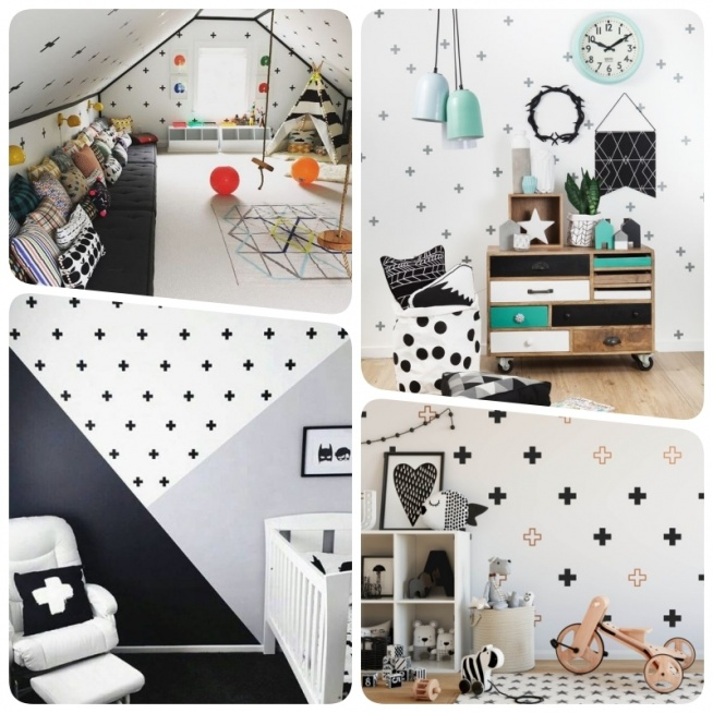 Geometryczne naklejki na ścianę   Domowe DIY, wystrój wnętrz, dekoracje, inspiracje - blog wnętrzarski