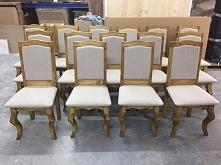 Stylizowane krzesła tapicer...