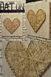DIY Obraz sznurek SERCE na sprzedaż :)