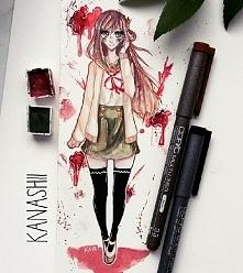 rysunek yuuri wakasa z anime gakkou gurashi, z którego wyjątkowo jestem zadow...
