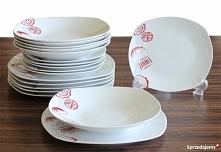 Wyjątkowy komplet talerzy, oryginalny i nowoczesny.