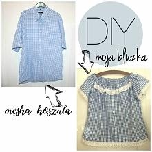 DIY - Jak uszyć bluzkę z męskiej koszuli?