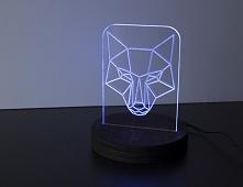 Lampka 3D z ledami RGB  DWA...