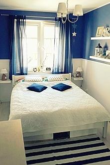 Nasza sypialnia w stylu marynistycznym