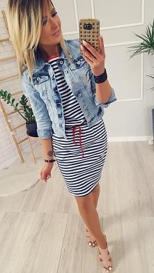 Jeansowa katana + sukienka marine Zapraszam :)