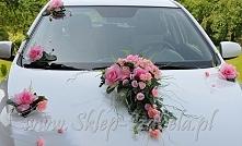 Dekoracje na samochód, ślub