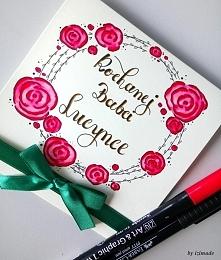 Karteczka wykonana dla pewnej babci na specjalne życzenie :)