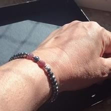 Luksusowa bransoletka z rubinami i szafirem