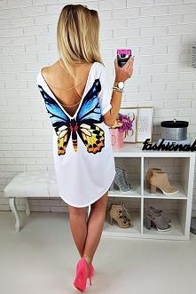 Idealna na wakacje bluzka BUTTERFLY - fashionata.pl