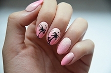 Paznokcie na lato!Wpadnijcie na bloga!Ombre, palmy i efekt szronu :)