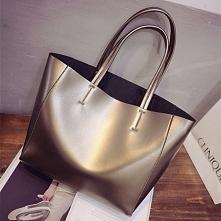 metaliczna torba