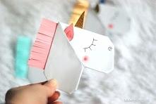 Zakładka do książki w kształcie jednorożca - instrukcja dostępna na Lubię Two...