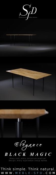 Magiczna, tajemnicza nowość stół Black Magic.  Design, któremu nie można się ...