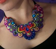 #soutache #sutasz #handmade #rękodzieło #jewellery #beads #jewelry #biżuteria #design #style #fashion #kolia #naszyjnik #necklace #multicolor #uniquejewelry #unique #kolia #folk