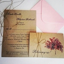 Ale piękne zaproszenia ślubne <3 coś w rustykalnym stylu ;)