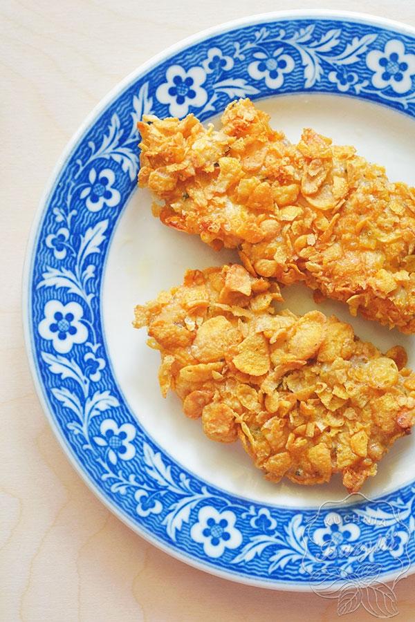 Przepis na pierś z kurczaka w płatkach kukurydzianych