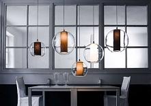 Lampa wisząca MERIDA - dostępna w =mlamp=   Eleganckie szkło z abażurem w kształcie tuby. Klosz jak bańka mydlana otaczający tekstylny abażur. Wybór różnych kolorów i wielkości ...