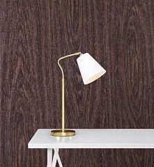 Lampa biurkowa TINDRA - dostępna w =mlamp=  Prezentowane oświetlenie to lampa o bardzo klasycznej formie. Posiada klosz o tradycyjnym kształcie, który wykonany jest z tkaniny w ...