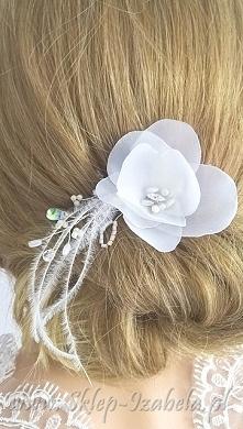 Ozdoba do fryzury ślubnej, ...