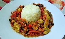 warzywa chińskie z ryżem i ...
