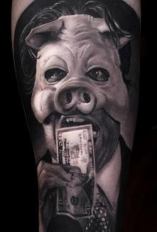 Business man wearing a pig ...