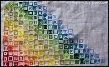 Haft krzyżykowy - kolorowe kwadraty