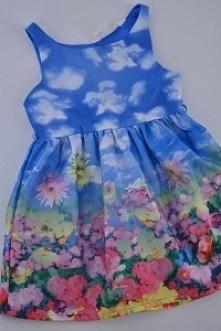 Nowa dostawa odzieży dziecięcej. Sukienka w kwiaty. Klik.