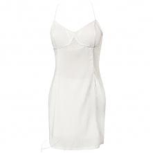 Biała sukienka mini wiązana na plecach. Do zakupienia na latkafashion.com
